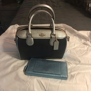 NWT Coach satchel with matching wallet